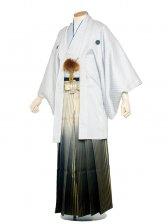 男性用袴(mo-shiro-koushi)5号白格子柄/5H0