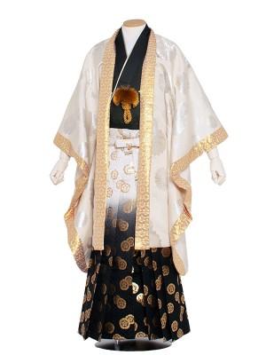 【オリジナル】男性用袴レンタル 5Z05クリーム菊花紋章