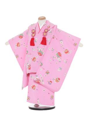 七五三(3歳女被布)被布F344ピンク/桜ま