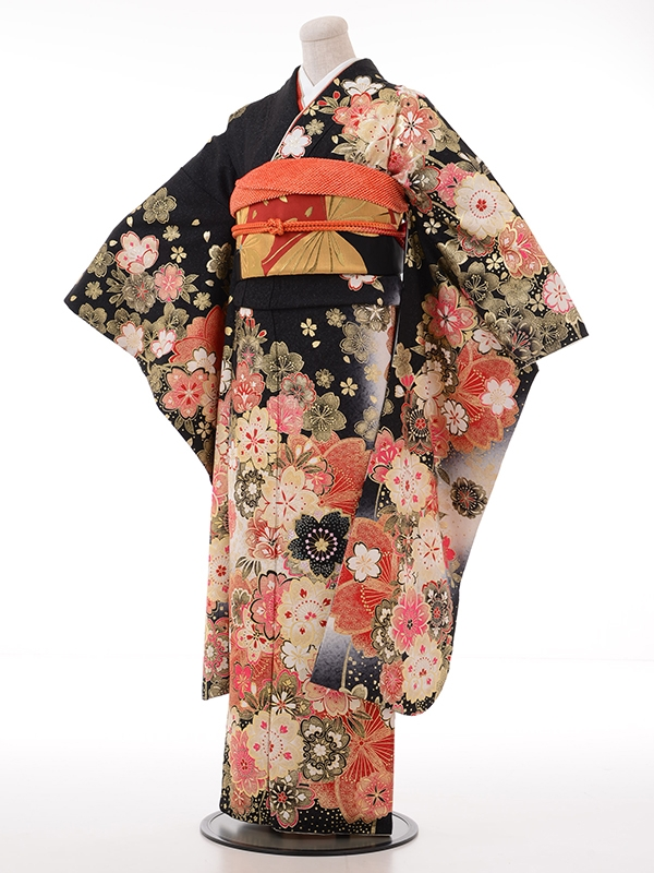 振袖1034グラマスFH118モノトーン桜