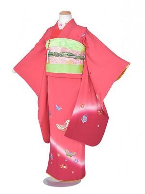 753レンタル(7歳女児)ピンク蝶ぼかし