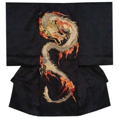 お宮参り男の子 2159 黒/豪華刺繍・金龍