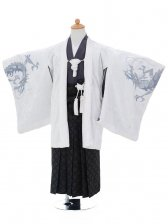 753レンタル(5歳男゙袴)0546ブルークロス白×黒ベ