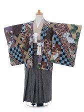 753レンタル(5歳男袴)0553多色鶴