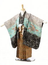 753レンタル(3歳男袴)0219水色×グレー兜