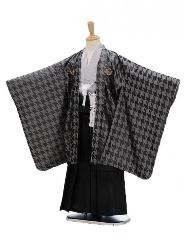 七五三(3男袴)0286 ひさかたろまん 黒×シル