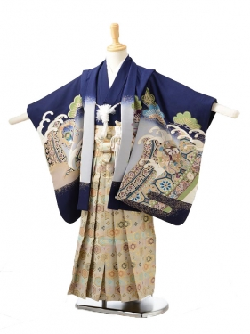 753レンタル(5歳男袴)0516紺鷹