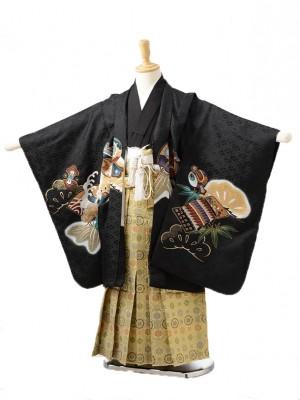 753レンタル(5歳男の子袴)0531黒兜
