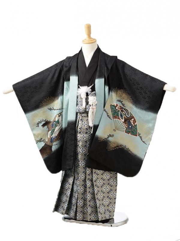 753レンタル(5歳男の子袴)0533黒鷹