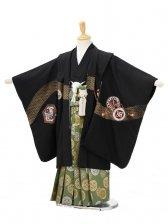 753レンタル(5歳男袴)0508黒カブト