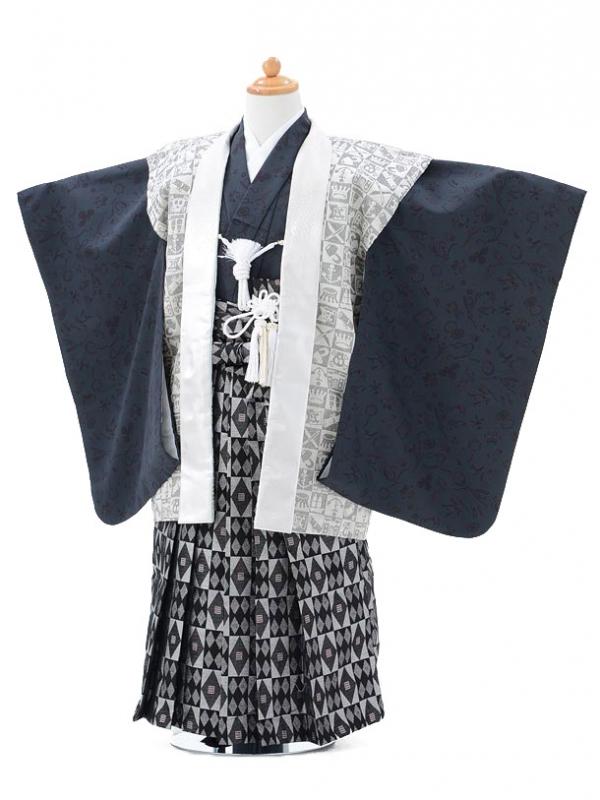 753レンタル(5歳男の子袴)0575ひさかたベージュパ