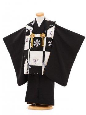 753レンタル(3歳男被布)0243黒×白