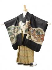 753レンタル(5歳男袴)0539ブラウン兜
