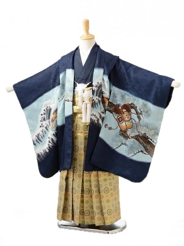 753レンタル(5歳男の子袴)0523紺兜