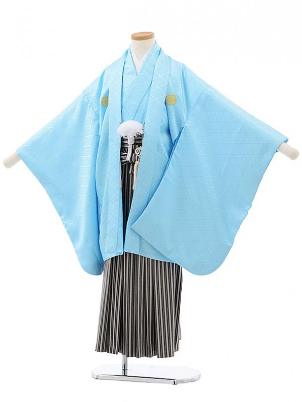 753レンタル(7歳男袴)0807スカイブルー×ベージュ