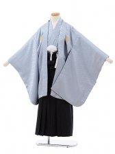 753レンタル(7歳男袴)0804グレー×黒