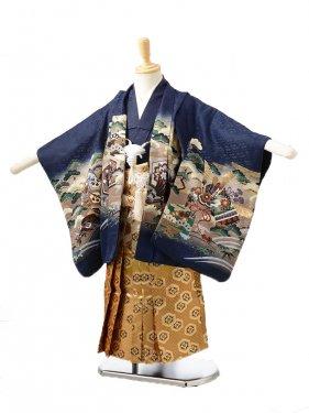 753レンタル(3歳男袴)0231紺に兜龍
