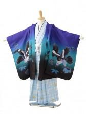 七五三(5男袴)0599紫ブルーぼかし鷹