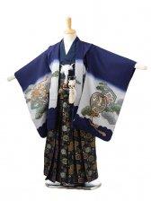 753レンタル(5歳男袴)0518紺兜