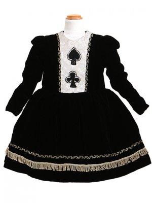 子供ドレス 7~8才 黒 長袖 dj-075b