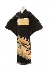 黒留袖レンタルE119 扇面に花