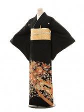 黒留袖レンタルE016 熨斗に雪輪