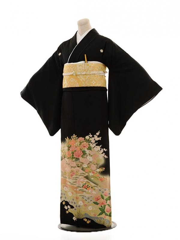 黒留袖レンタルE013 花扇