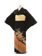 黒留袖レンタルE092 花に正倉院