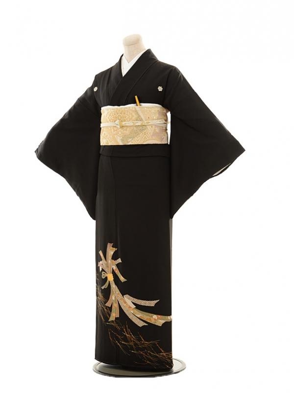 黒留袖レンタルE044 熨斗に松葉