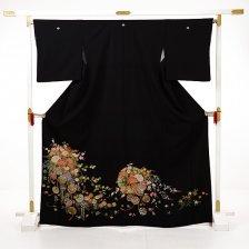 黒留袖E093 四季花にまり