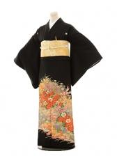 黒留袖レンタルE025 金彩花づくし