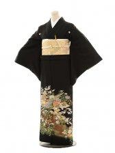黒留袖レンタルE137 四季の花