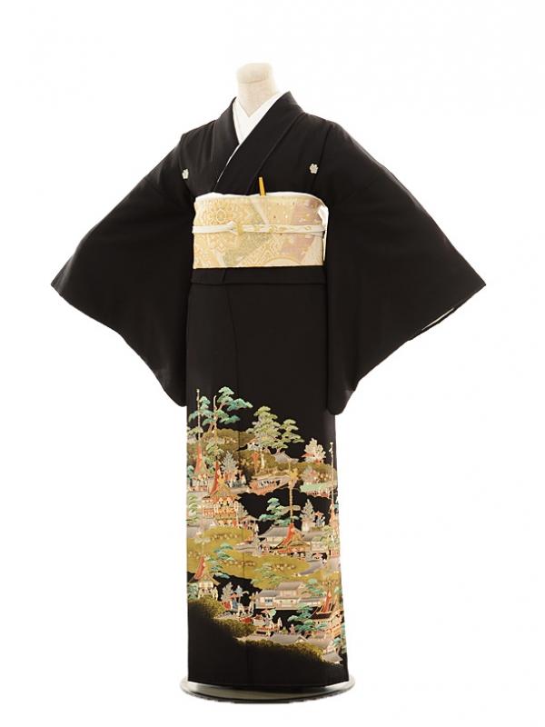 黒留袖レンタルE135 祇園祭