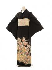 黒留袖レンタルE072 加賀小花
