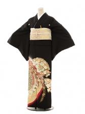 黒留袖レンタルE002 桂由美 花扇