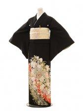 黒留袖E003 桂由美 バラ