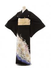 黒留袖E006 桂由美 バラ