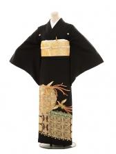 黒留袖レンタルE117 寛斎 鳳凰