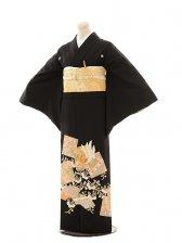 黒留袖E104 鳳凰に葵