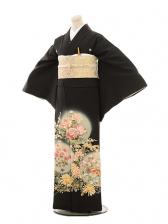 黒留袖E033 四季花におしどり