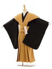 七五三(5歳男袴)A025 黒×キャメル色