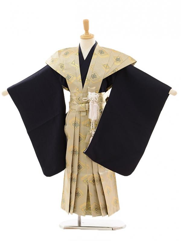 七五三(5歳男袴)A023 紺×ゴールド菱