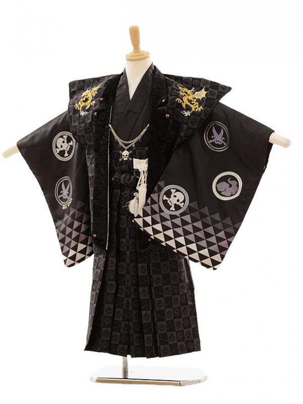 七五三(5歳男袴)A039 BLUE CROSS 黒