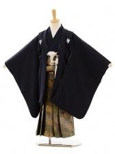 七五三(5歳男袴)A051 紺紋付×グリーンゴールド