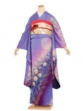 振袖 120 青紫ラメ/古典