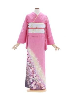 訪問着350ピンク桜柄