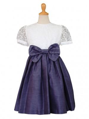 女の子ドレス日本製 021-KNネイビー 100