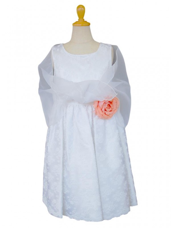 女の子ドレス日本製 060-WHホワイト 110