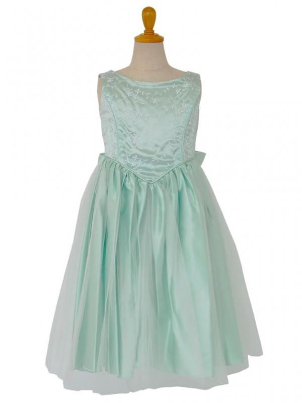 女の子ドレス 004-GRグリーン 140