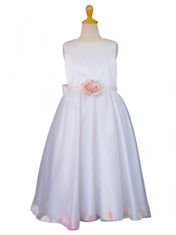 女の子ドレス日本製001-WHホワイト 130
